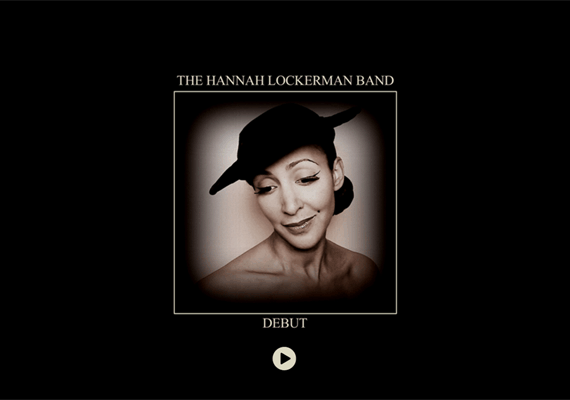 "The Hannah Lockerman Band comissioned a responsive website to launch their first album ""Debut""."