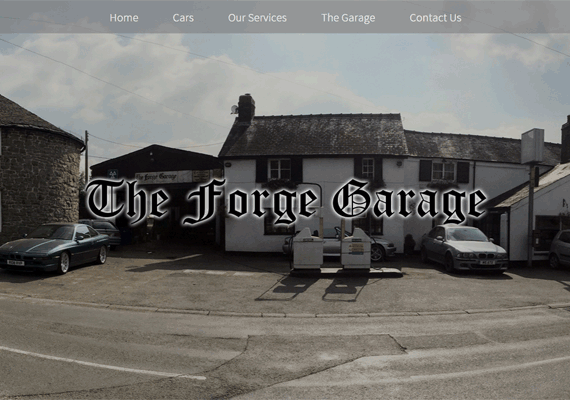 The Forge Garage, in Aston-on-Clun, commissioned a responsive website to give their family business an online presence.